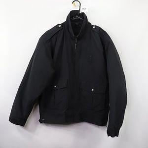 Blauer Mens Large Insulated Bomber Jacket Black